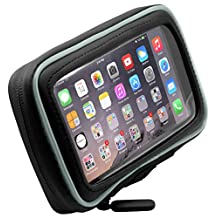 ARKON Adhesive Motorcycle Gas Tank Smartphone Mount Holder for Apple iPhone 6 Plus, Samsung Galaxy Note 4/3, Galaxy S5/LG/G3 - Retail Packaging - Black