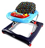 Bebemio Musical Play Mates Baby Walker w/ Adjustable Height, Lights, Sounds (Blue)
