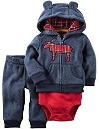 Carter's Baby Boys 3-Piece Moose Hoodie Set