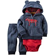Carter's Baby Boys' Cardigan Sets 121h013, Navy Moose, NB