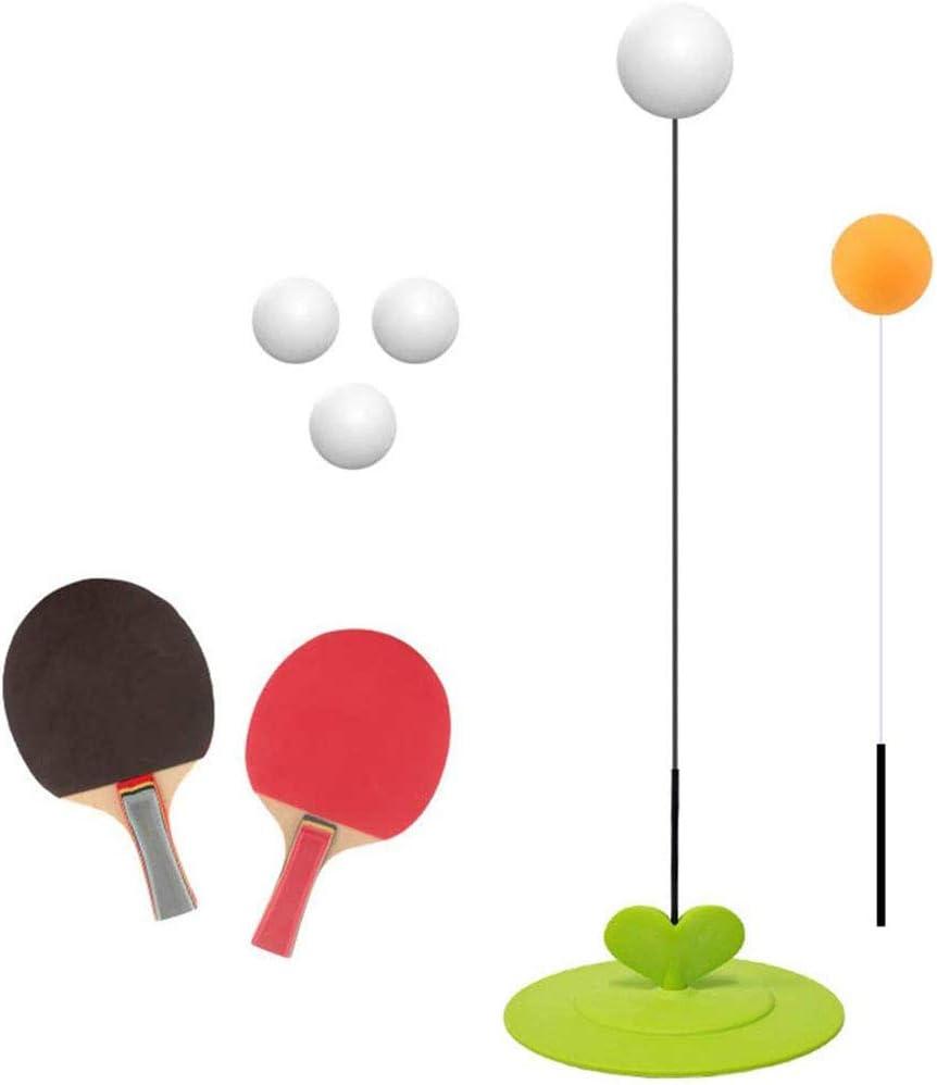 UNIIKE Mesa de Ping Pong Sola Trainer, Rebote Tabla de Formación Tenis Dispositivo elástico Suave Curva del Eje Resistencia Buena Elasticidad Formación del Equipo del Kit