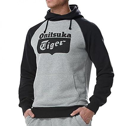 Asics Onitsuka Tiger - Sudadera con Capucha, Color Negro