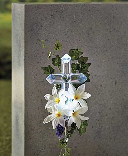 Solar Lily Cross Stake White (White Lilly) by GetSet2Save