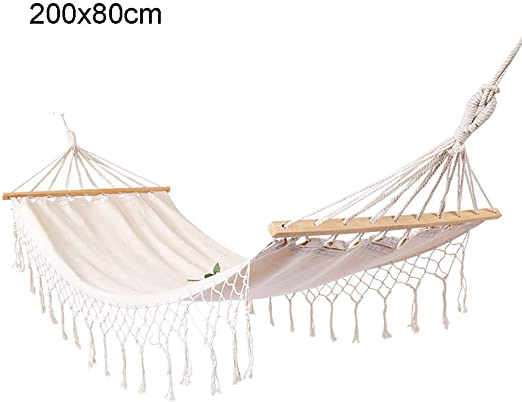 Portable Garden Double Hammock  Camping Canvas Hammock Outdoor Travel Swing NEW