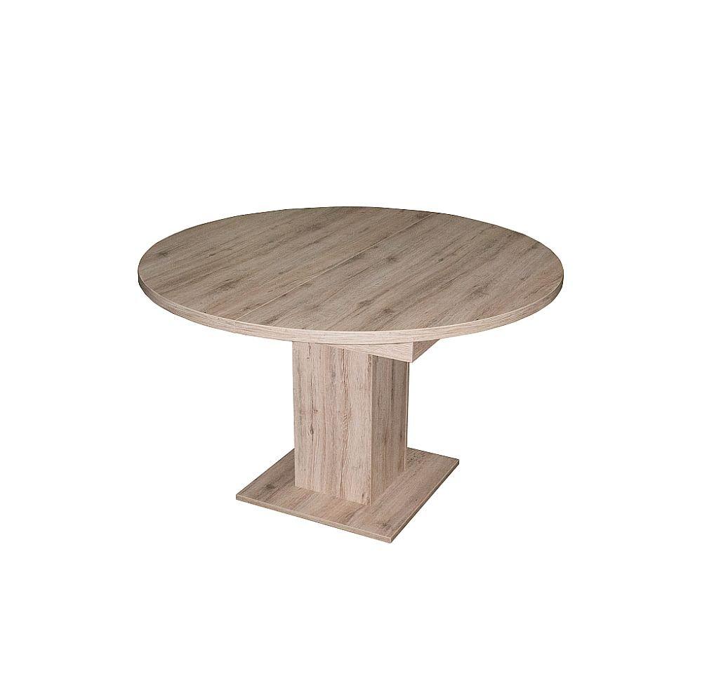 Esstisch rund ausziehbar  Esstisch rund ausziehbar Eiche sägerau 104 cm Sale: Amazon.de ...