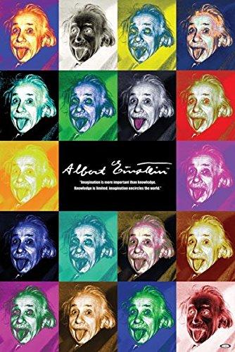 Albert Einstein-Pop Art, Celebrity Poster Print