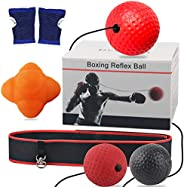 Reflex Ball with Reaction Bounce Ball, Reaction Training Set, 3 Difficulty Level Boxing Ball with Headband, Bo