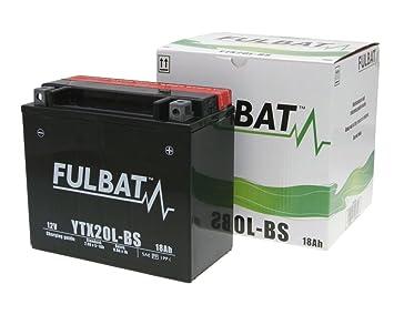 Batterie FULBAT YTX20L-BS MF wartungsfrei f/ür KYMCO MXU 700 700 ccm inkl.7.50 EUR Batteriepfand