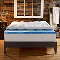 Sleep Innovations 4 in. Dual Layer Mattress Topper - Gel Memory Foam and Plush Fiber