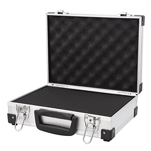 Professional Aluminum Hard Hand Gun Cases Office File Briefcase Outdoor Travel Flight Cases Home Tool Boxes with Quick Locks by ALUBOX (Image #7)