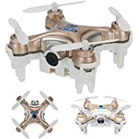 Amazingbuy - Cheerson CX-10W Mini Wifi FPV Quadcopter 0.3MP Camera RC 3D Flips 4CH CX10 Upgraded Version Nano Drone Helicopter Toy Gift - Golden