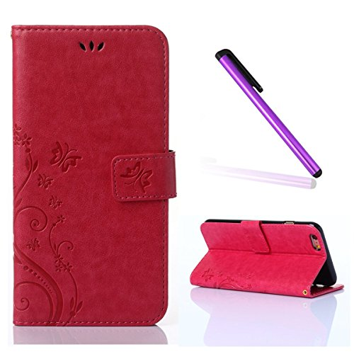 iphone 4 case wallet red - 1