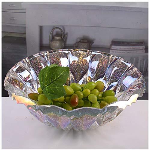 24% Lead Crystal Bowl - YJJL Fruit Storage 24% Lead Crystal Fusion 30cm Bowl Large Crystal Fruit Bowl/Salad Bowl/Centerpiece Fruit Plate (Color : A)