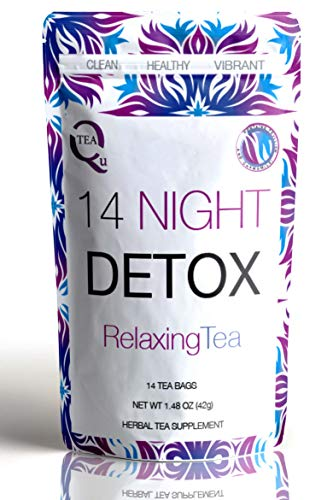 14 Night Detox Tea from Qutea - Enjoy a Relaxing Sleep with Ginger & Chamomile in a Natural Blend of Fruits, Flowers, Herbs & Tea - For the Sleep Cleanse You Need! (Bootea 14 Day Detox Before And After)