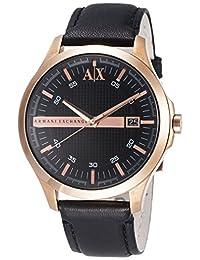 Armani Classic AX2129 Men's Wrist Watches, Black Dial