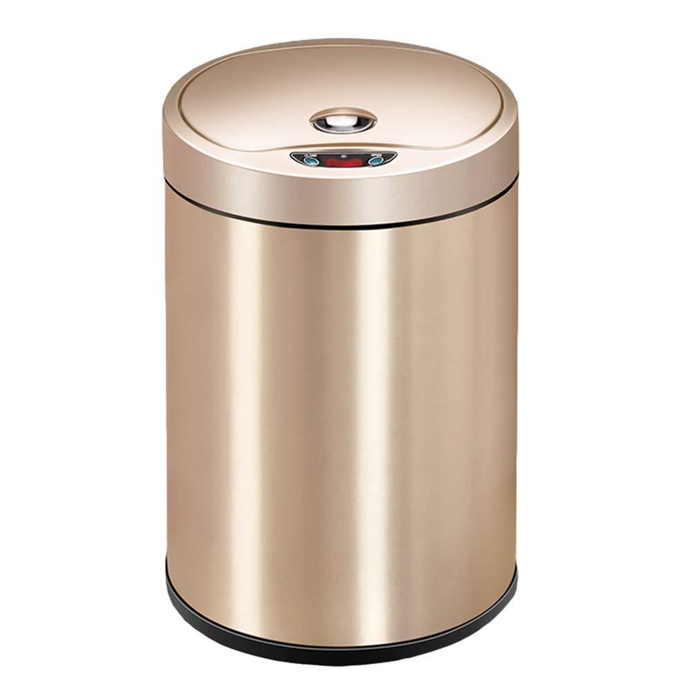 amazon XF Poubelle - inox silencieux peinture au four peinture à induction automatique poubelle (6L, 8L) ** (Couleur : A, taille : 28.6CM) pas cher prix