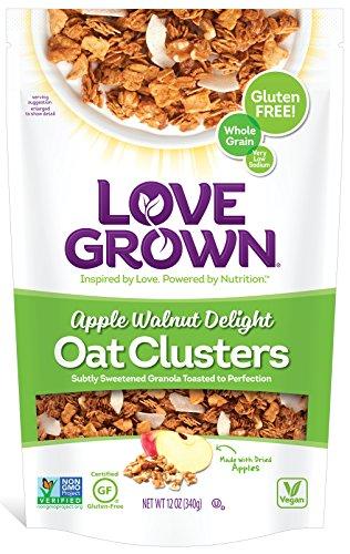 Love Grown Oat Clusters, Apple Walnut Delight, 12-Ounce (Pack of ()