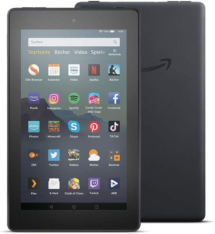 Fire 7 Tablet Zertifiziert Und Generalüberholt 7 Zoll Display 32 Gb Schwarz Mit Werbung Amazon Devices