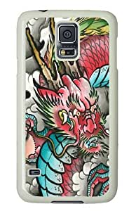 Rosesea Custom Personalized Red Dragon PC Case Cover for Samsung S5 and Samsung Galaxy S5