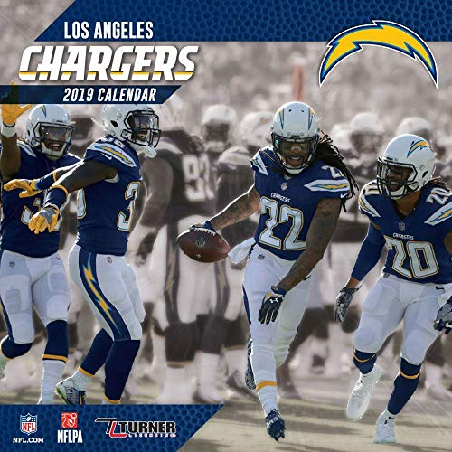 (Lang Companies Inc Los Angeles Chargers 12 x 12 Inch Wall Calendar 2019)