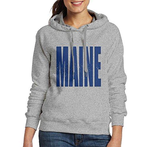 Maine Long Sleeve for Women Custom Hoodie Sweatshirt (Maine Womens Long Sleeve)