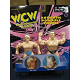 toymakers WCW Ric Flair & Lex Luger Poseable Figure Collectible Wrestlers From Toymakers 1998