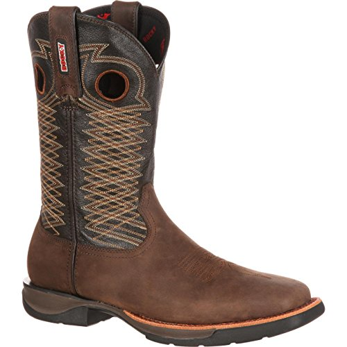 Rocky Men's RKW0139 Western Boot, Dark Brown and Sunset Brown, 13 M US images
