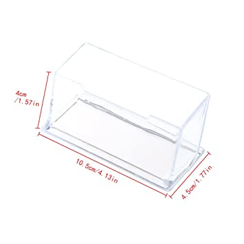 Aisme 100 Transparent Visitenkartenhalter Acryl Ständer Aus