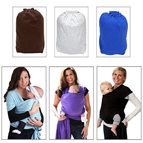 GWEL Cotton Solid Soft Elastic Baby Sling Wrap Stretchy Wrap Carrier