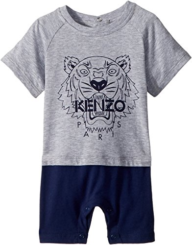 8160bc38b Kenzo Kids Baby Boy s Romper Classic Tiger (Infant) MARL Grey 12 ...