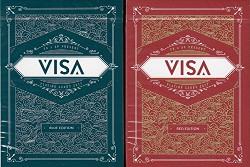 visa-playing-cards-poker-size-deck-uspcc-custom-limited-edition-blue-red-2-deck-set