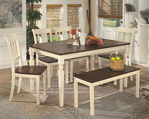 home & kitchen, furniture, kitchen & dining room furniture,  tables  image, Ashley Furniture Signature Design » Whitesburg Dining Room Table » Rectangular » Vintage Casual » Brown/Cottage White deals4