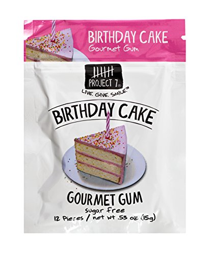 Project 7 Sugar Free Gum Birthday Cake 12 Pouches 144 Pieces Total