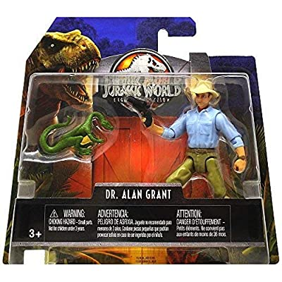 Dr. Alan Grant & Compie Jurassic World Legacy Collection Posable Figure 3.75 2020: Toys & Games
