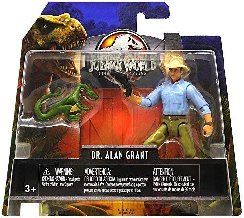 Alan Grant /& Compie Jurassic World Legacy Collection Posable Figure 3.75 2018 JWIF SG/_B07CNXXW42/_US Dr
