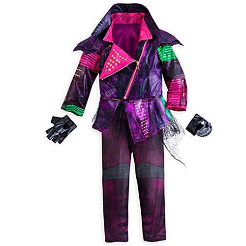 Disney Store Descendants Mal Costume for Girls ~ 5/6 (Jacket, Leggings, and Gloves) (Easy Disney Costume)