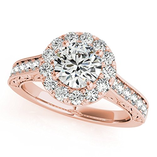 Round Diamond Antique Milgrained Engagement product image