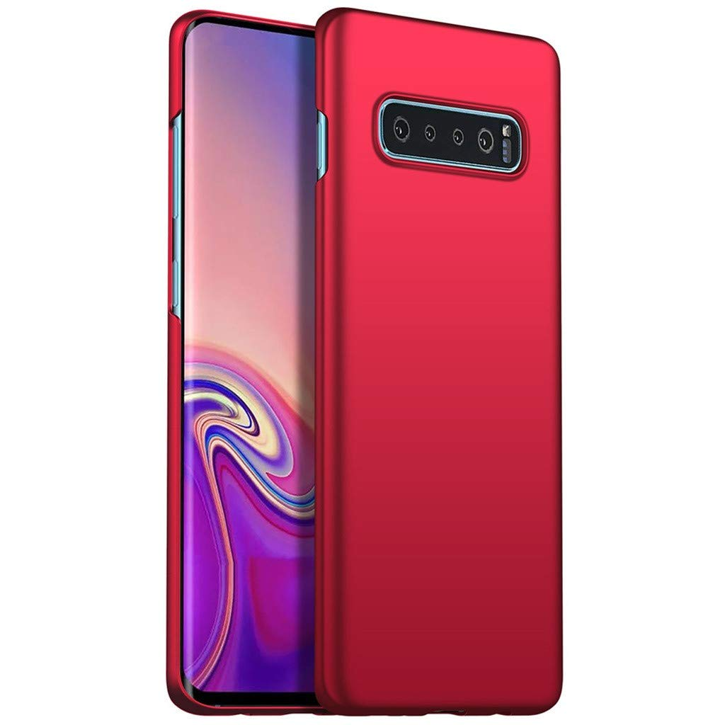 Waterproof-Case-with-Built- Screen-Protector,Ultra-thin-Luxury-Hard-PC-Protective-Case-Cover-For-Samsung-Galaxy -S10-6.0inch, (Red)