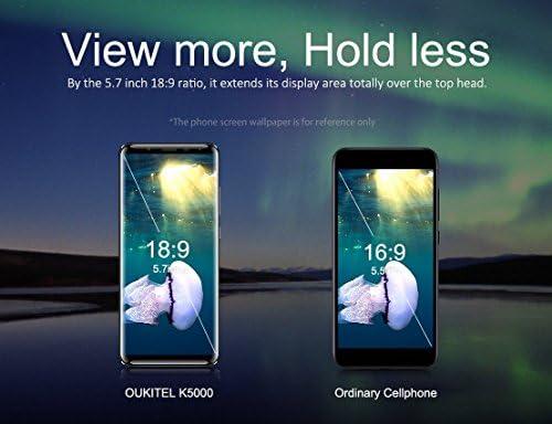 OUKITEL K5000 - Móviles Libres 4G(Android 7.0 Pantalla de 5.7 FHD 18:9,Cámara Trasera de 16.0MP 64GB de ROM,4GB de RAM, MTK6750T 1.5GHz Octa Core, Dual SIM 5000mAh Smartphone) Oro: Amazon.es: Electrónica