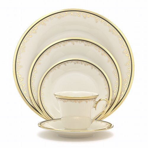 Cheap Lenox Eclipse Gold-Banded 5-Piece Place Setting, Service for 1
