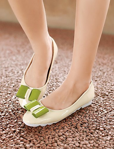 zapatos sintética piel plano de eu38 de PDX redonda Beige Casual 5 uk5 cn38 mujer beige Flats us7 talón punta 5 verde 4gq5xnwwC