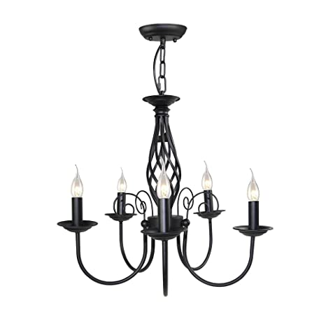LALUZ Small Antique Chandeliers 5-light Pendant Lighting - LALUZ Small Antique Chandeliers 5-light Pendant Lighting - - Amazon.com
