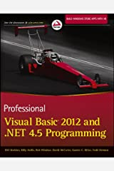 Professional Visual Basic 2012 and .NET 4.5 Programming Paperback