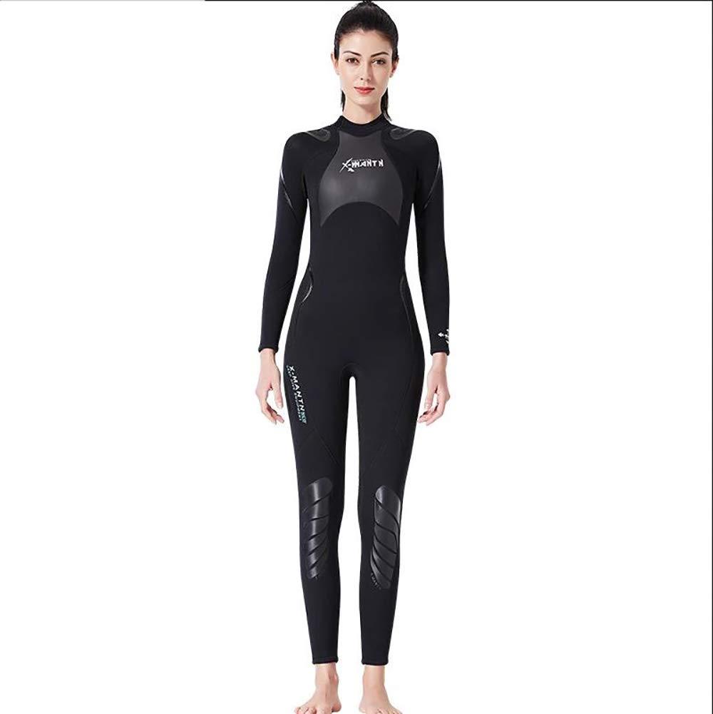 Femalemodels XL QETU Combinaisons en néoprène de 3MM, UPF50 + plongée équipeHommest de Plein air, Costumes de Saut en Eau de Sports Nautiques Maillots de Bain Une pièce