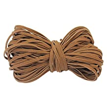 ReFaXi 2 mm Flat PU Leather Cords For Bracelet Neckacle Beading Jewelry Making 18 meter / 19 Yard(Brown)