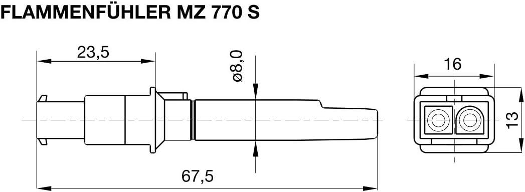 Satronic MZ770S - Sensor de llamas con soporte para fotograf/ía y adaptador : 51001