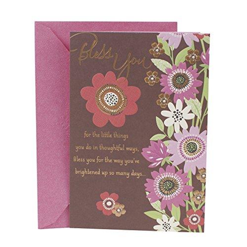 - Hallmark Mahogany Religious Thank You Greeting Card (Flowers)