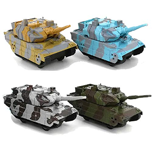 (MinYn Diecast Military Pullback Tanks Mini Army Batttle Toy Tanks Playset for Kids Children - Pack of)
