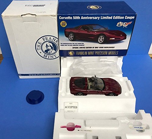 Franklin Mint Limited Edition (Corvette 50th anniversary Coupe Limited Edition Franklin Mint 1/24 scale)