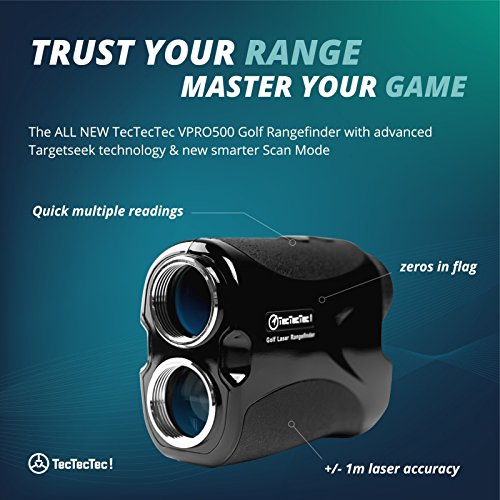 TecTecTec VPRO500 Golf Rangefinder - Laser Range Finder with Pinsensor - Laser Binoculars - Free Battery by TecTecTec (Image #3)